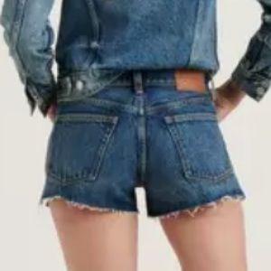 LUCKY BRAND The Cut Off Denim Shorts Blue 27